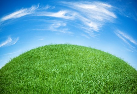 earth globe covered with grass Stock Photo - 4039588