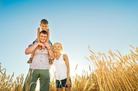 happy family having fun outdoors Stock Photo - 5159725