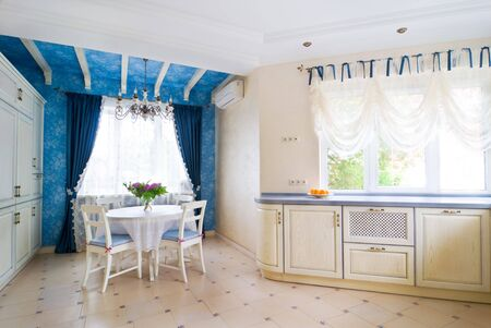 Beautiful kitchen interior of large villa Stock Photo - 5159727