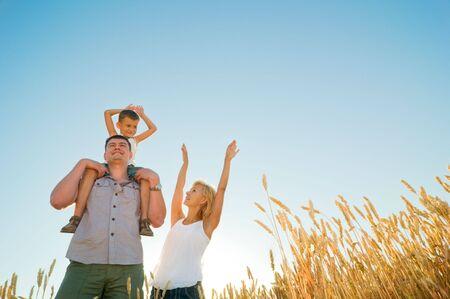 happy family having fun outdoors Stock Photo - 5553166