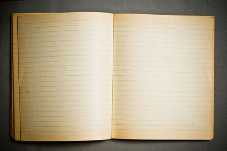 old notebook: Old notebook with blank pages