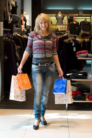moll: an attractive young lady out shopping Stock Photo