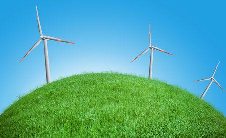 wind turbines on a field Stock Photo - 5837606