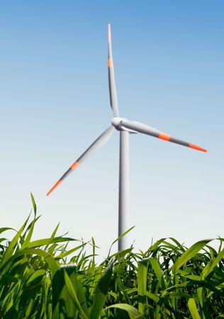 wind turbine on a field Stock Photo - 6167158