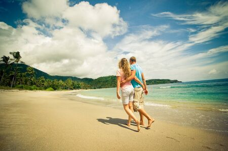 couple having fun at beach Standard-Bild