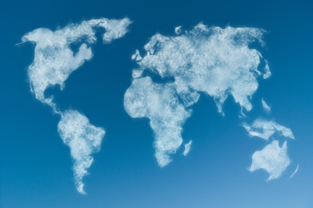 world map shaped clouds in the sky Stock Photo - 8402090