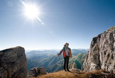 woman hiking in a mountain Stock Photo - 10954476