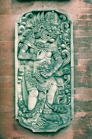 stone carving: stone sculpture of ancient Bali architecture