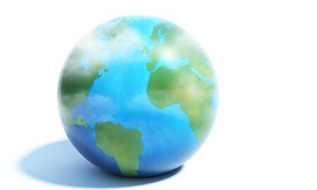 europa: the Earth 3D illustration