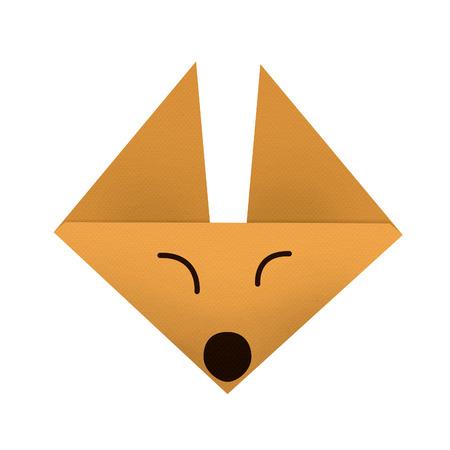 fox face: origami de papel un zorro (cara)
