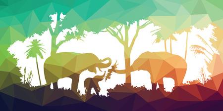 animal of wildlife (elephant) Vector
