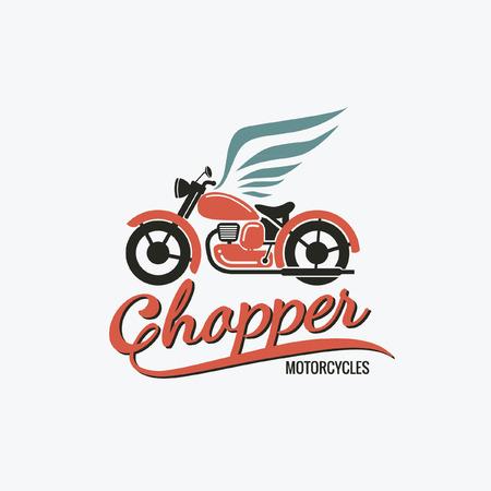 chopper: orange chopper motorcycle logo