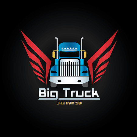 blue truck and red wigs icon screen