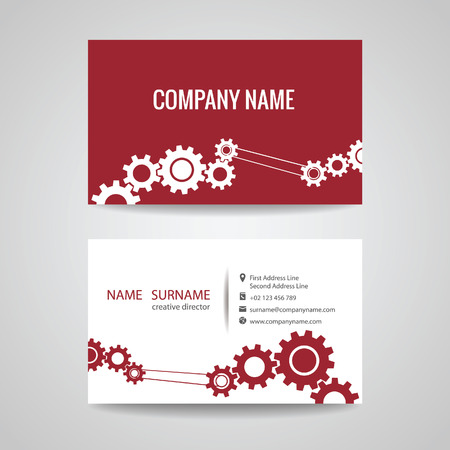 engineering: business card for engineer and Mechanical