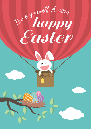 Happy easter day for card design Vector