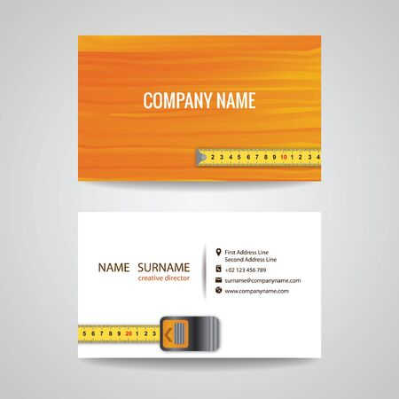 wood working: business card for Wood working Illustration