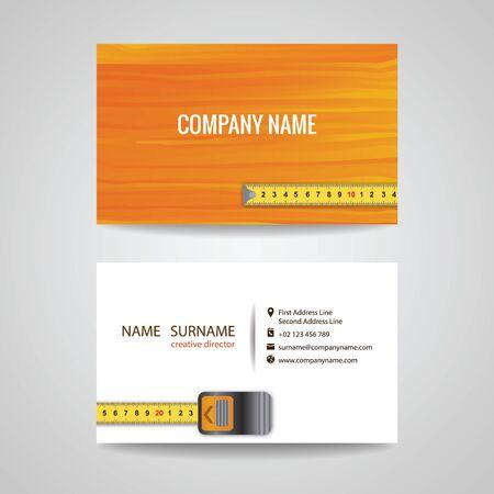 carpenter: business card for Wood working Illustration