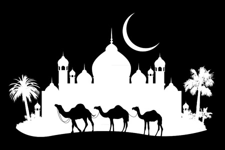 animal of wildlife (camel) Vector