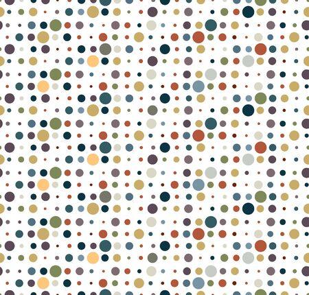 earth tone: pattern dot circle earth tone Illustration
