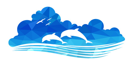 dolphin silhouette: animal of wildlife (dolphins)