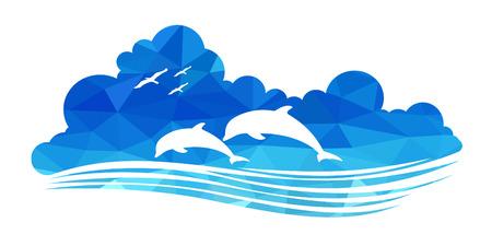 dauphin: animaux de la faune (dauphins) Illustration
