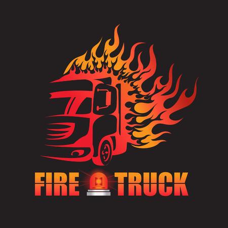 trucking: Fire truck logo