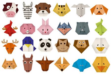 silhouette lapin: papier origami tous confrontés animale