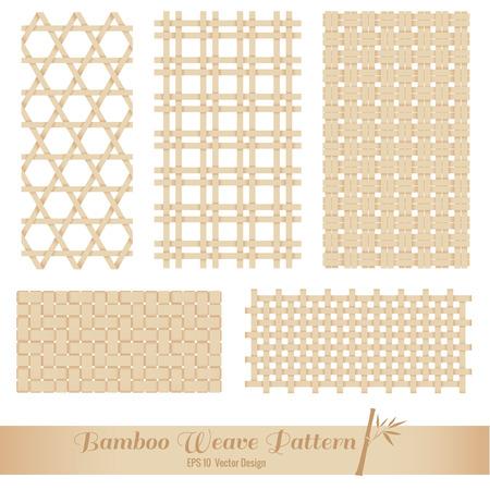 Bamboo Weave pattern vector art design Illustration