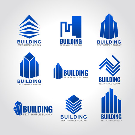 abstract logos: 9  building tone blue sky logo