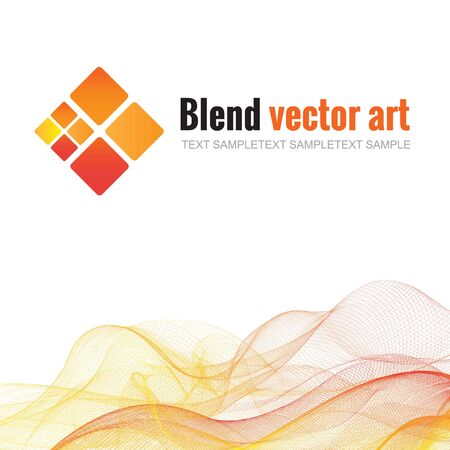 blend: Blend wave and trapezoid Shades of yellow, orange