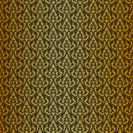 thai buddha: thai pattern - Images artistic of traditional line thai Illustration