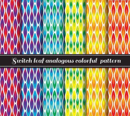 analogous: Switch leaf analogous colorful 6 pattern style