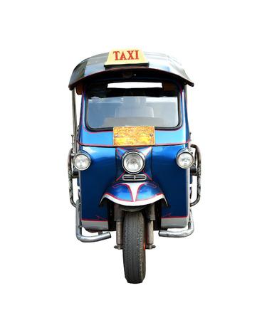tuk: Tuk Tuk taxi car in thailand (front view) Stock Photo