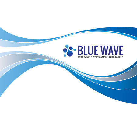 Business background Template Abstract Blue Wave design vector