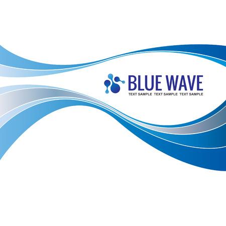 Business-Hintergrund-Schablone Abstract Blue Wave-Design Vektor- Standard-Bild - 39293792
