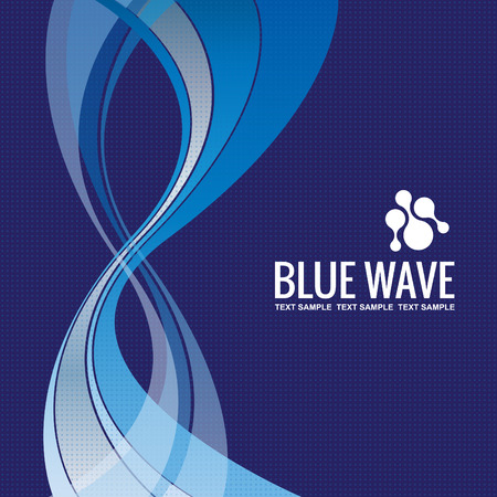 corporative: Business background Template Abstract Blue Wave design vector
