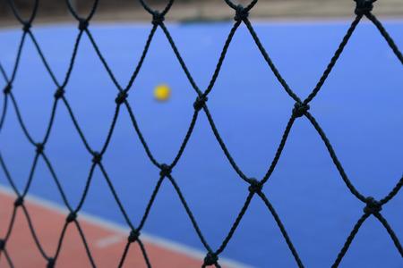 futsal: Mesh Futsal with Futsal field on background