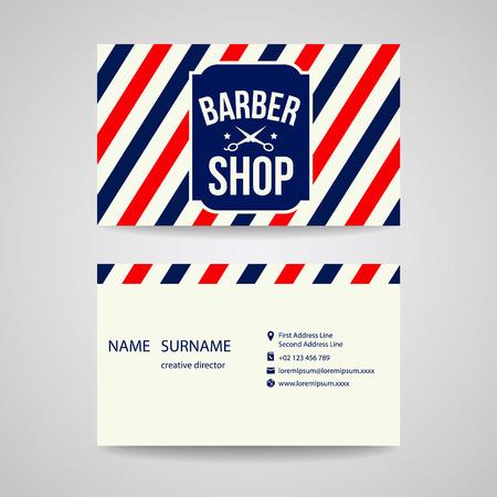 barbero: Diseño de la plantilla tarjeta de visita para peluquería