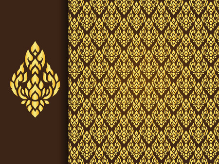 asian art: Asian traditional art Design, Thai traditional background ( Lai Thai pattern )