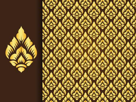 Asian traditionellen art Design, traditionelle Thai-Hintergrund (Lai Thai-Muster)