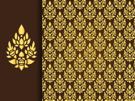 Asian traditional art Design, Thai traditional background ( Lai Thai pattern )
