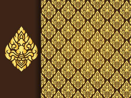 Asian Art Design traditionnel, thaï fond traditionnel (Lai Thai motif) Banque d'images - 39567792