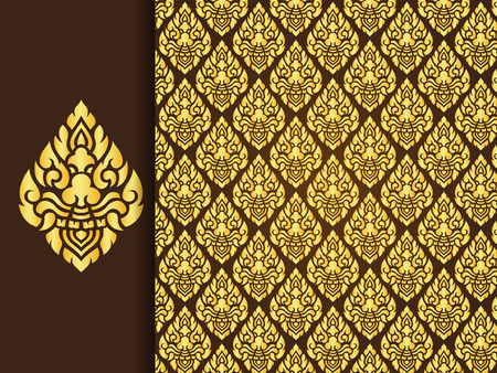 thailand art: Asian traditional art Design, Thai traditional background ( Lai Thai pattern )