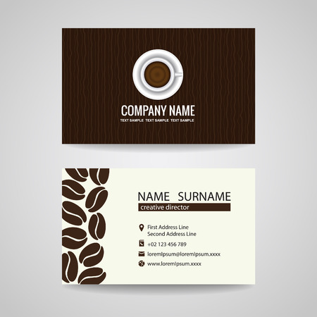 Cafe business card template forteforic cafe business card template flashek Choice Image