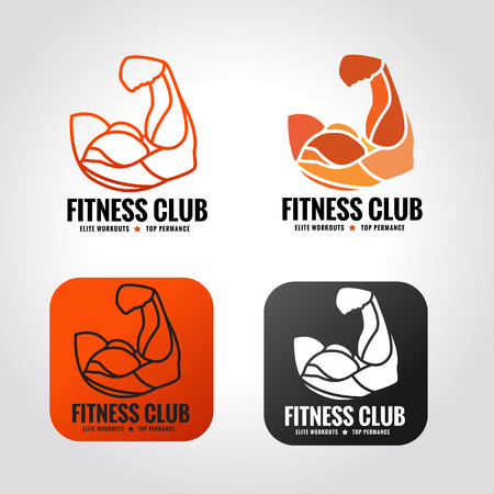 arm muscle vector  design for fitness gym