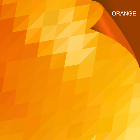 Abstract orange triangle low poly background vector design