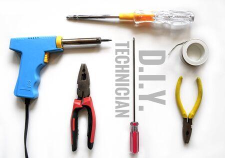 solder: Screwdriver soldering iron solder pliersSolder Wire  TECHNICIAN TOOL