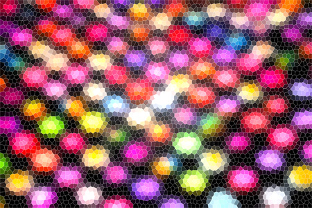 night club interior: Beautiful Abstract background dot mosaic colorful tone Stock Photo