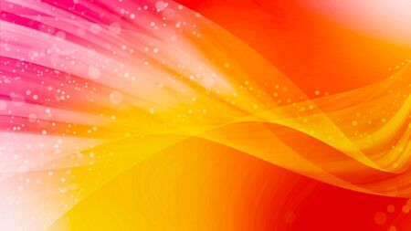 orange color: Abstract background art design smooth wave bokeh and pink red light Stock Photo