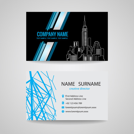 building structure: Business card design for about structure building